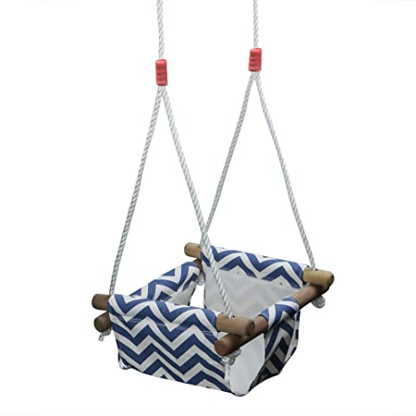 e77cf49fc6fe Amazon.com  Pellor Baby Toddler Canvas Swing Seat Hammock Chair ...