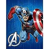 Disney Marvel Avengers Hero Twin Size Royal Plush Blanket - Captain America