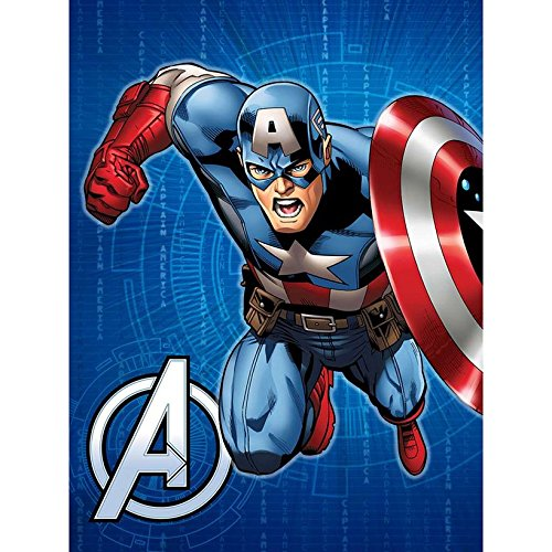 Disney Marvel Avengers Hero Twin Size Royal Plush Blanket - Captain America by Disney