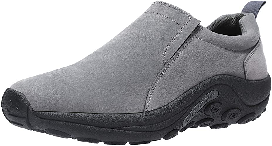 Mens Slip On Shoes Causal Driving Comfort Black Loafer Walking Boots