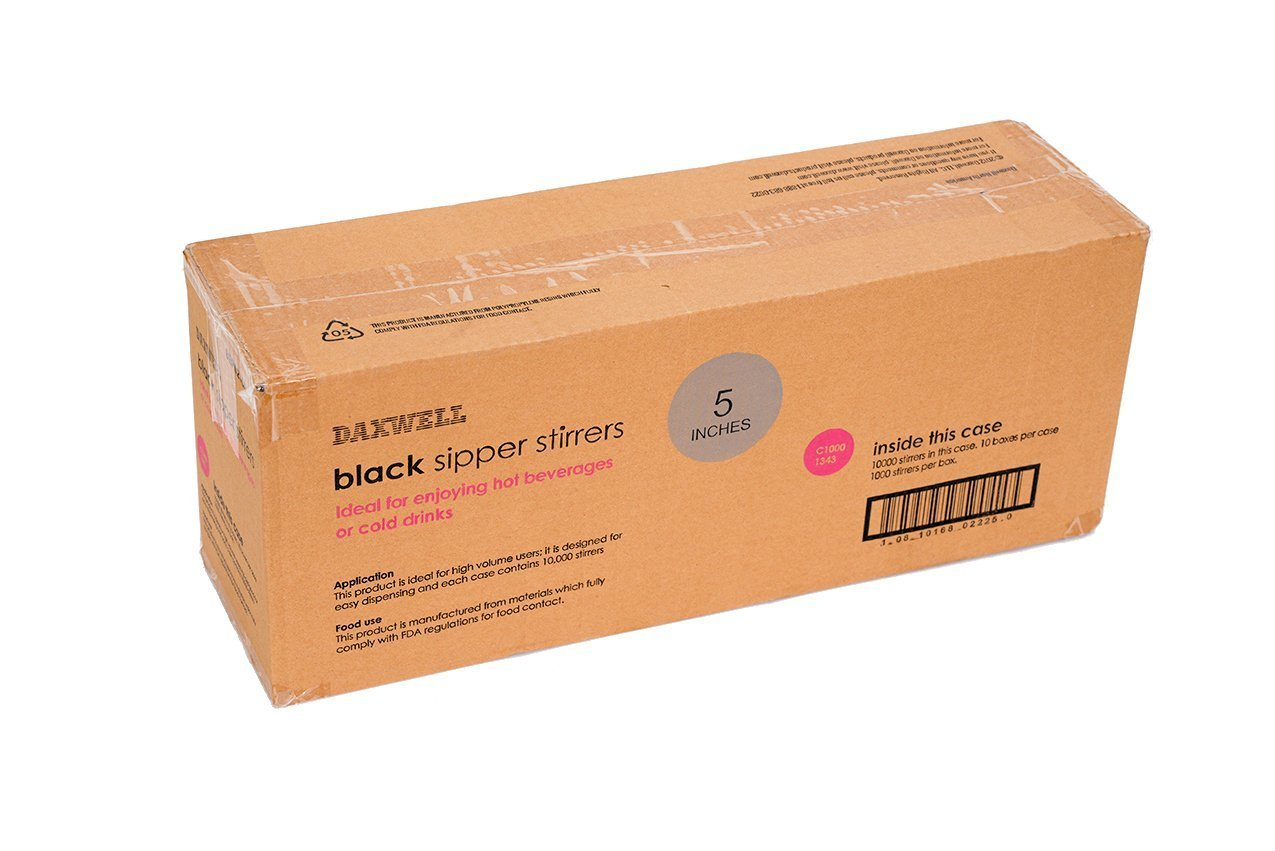 Daxwell 5.5 x 3mm Coffee Stirrer Box of 1,000 Black