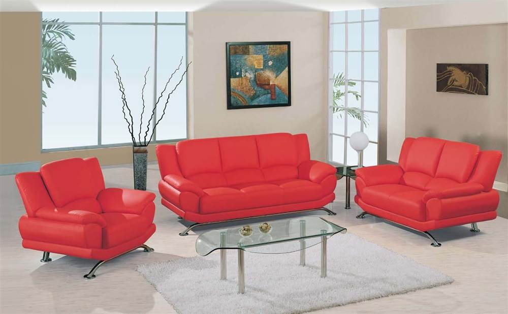 Amazon.com: Global Furniture USA 3 Pc Upholstered Bonded Leather ...