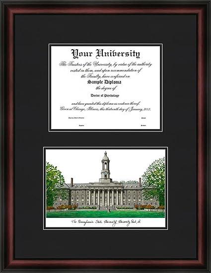 Amazon.com: Penn State University Diploma Frame & Lithograph Print ...