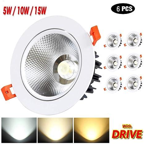 Foco empotrable LED COB Luz de techo direccional 350-1425LM ...