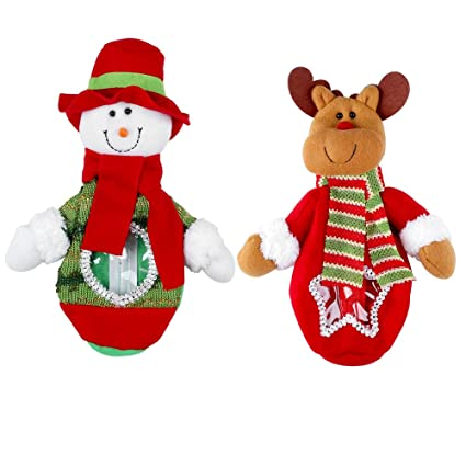 1cbea0334 Amazon.com: Pparty 2 of set Snowman &Deer Bag Christmas Candy Bag ...