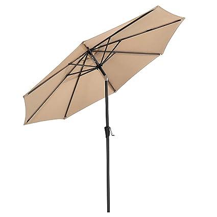 Amazon.com: SONGMICS - Paraguas para patio de 9 pies ...