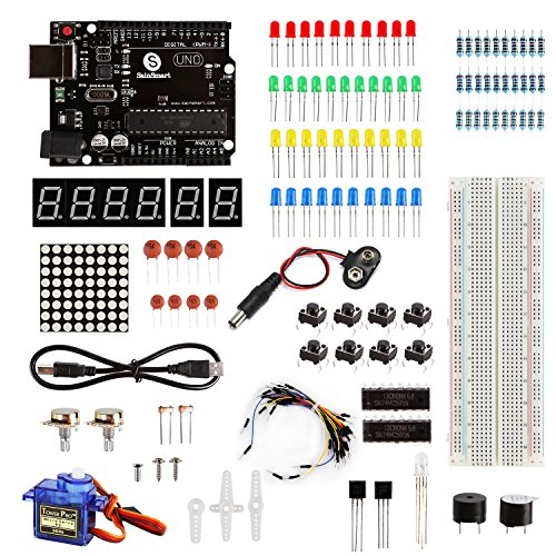 SainSmart UNO R3 Starter Learning Kit with Tutorial for Arduino-Basic Edition (Basic Starter Kit)