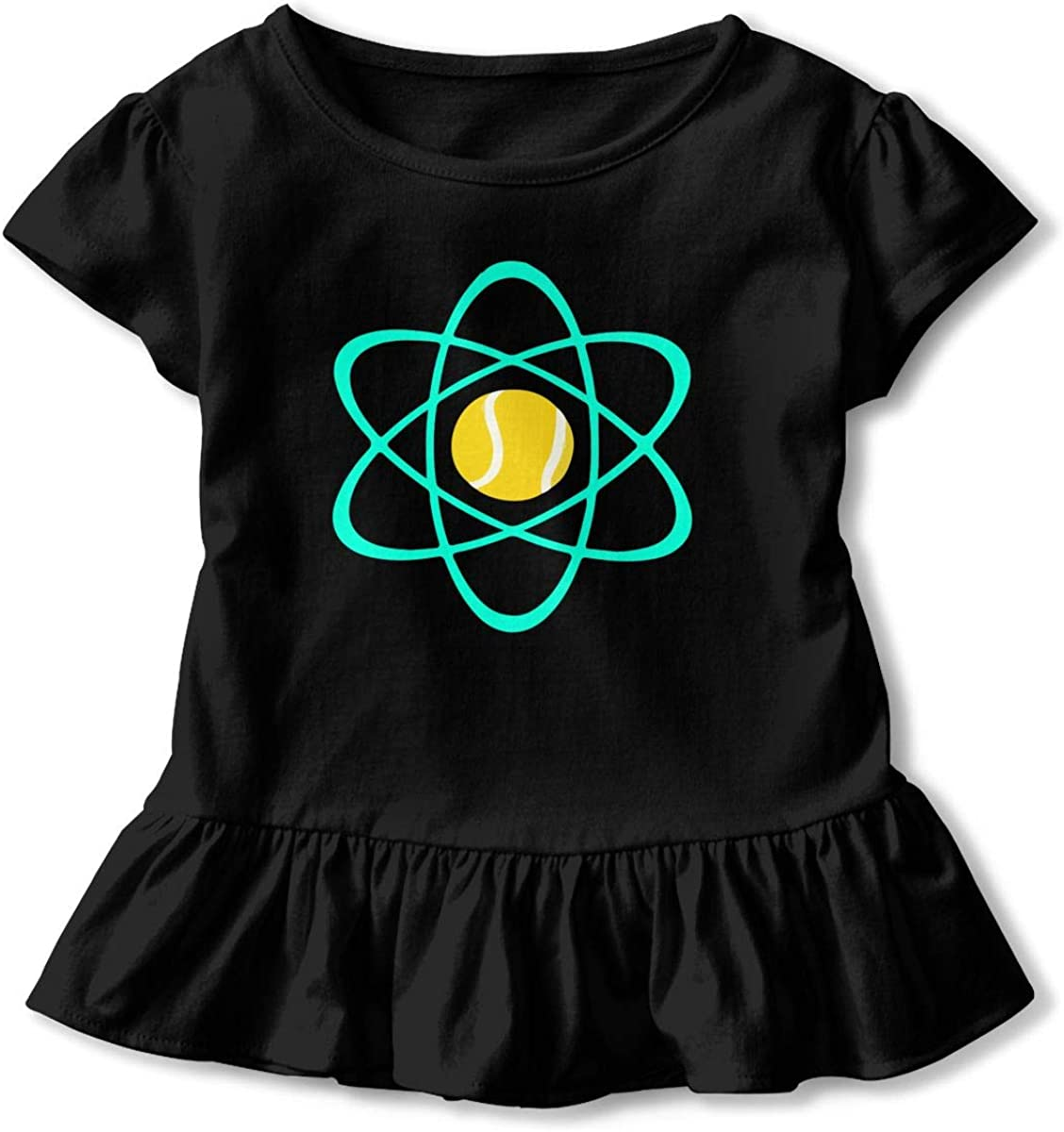 Cheng Jian Bo Tennis Atom Toddler Girls T Shirt Kids Cotton Short Sleeve Ruffle Tee