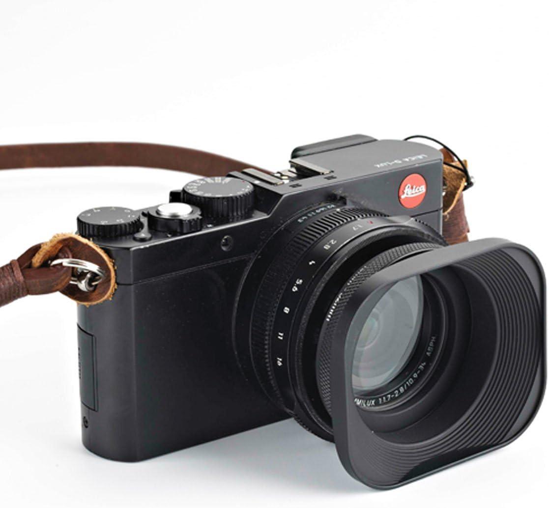 Haoge LH-E52T Universal Square Metal Screw-in Mount Lens Hood ...