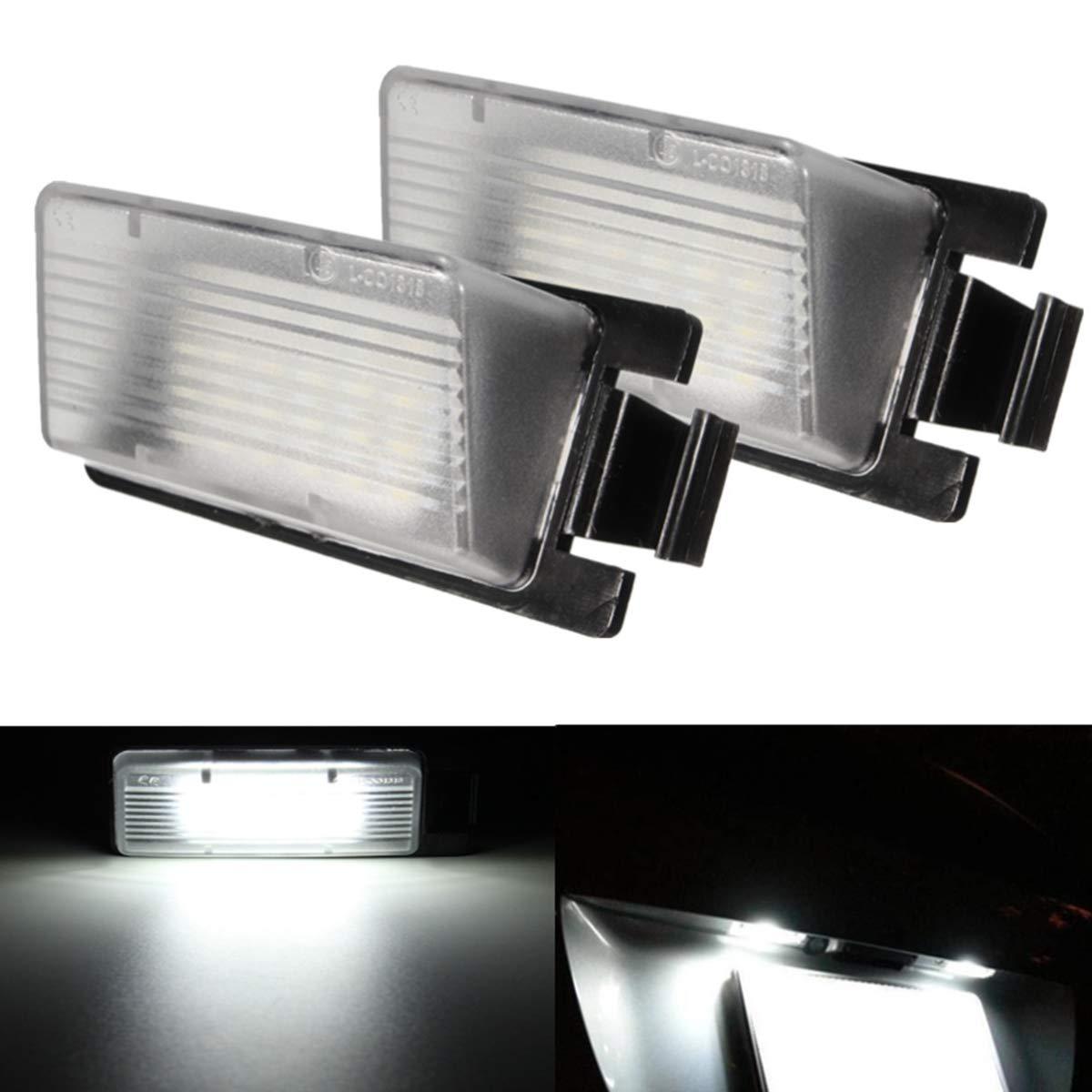 GOFORJUMP Lampe de Plaque dimmatriculation de Remplacement de la lumi/ère de la Plaque dimmatriculation LED de Voiture 2Pcs Blanche pour N//issan 350Z 370Z GTR pour I//nfiniti G25 G35 G37