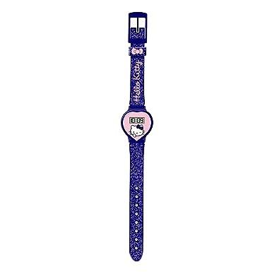 Hello Kitty HK25918 Reloj digital para niña, de cuarzo con correa de plástico azul e ilustraciones de Hello Kitty: Amazon.es: Relojes