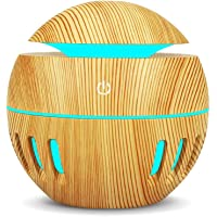 Difusor Aromaterapia, LETTURE 130ML Difusor De Aceites Esenciales USB Humidificador Aromas con 7 Colores Luces, Portátil Humidificador Aromaterapia Purificador de Aire para Casa, Oficina, Estudio, Sala de Yoga, Gimnasio, etc