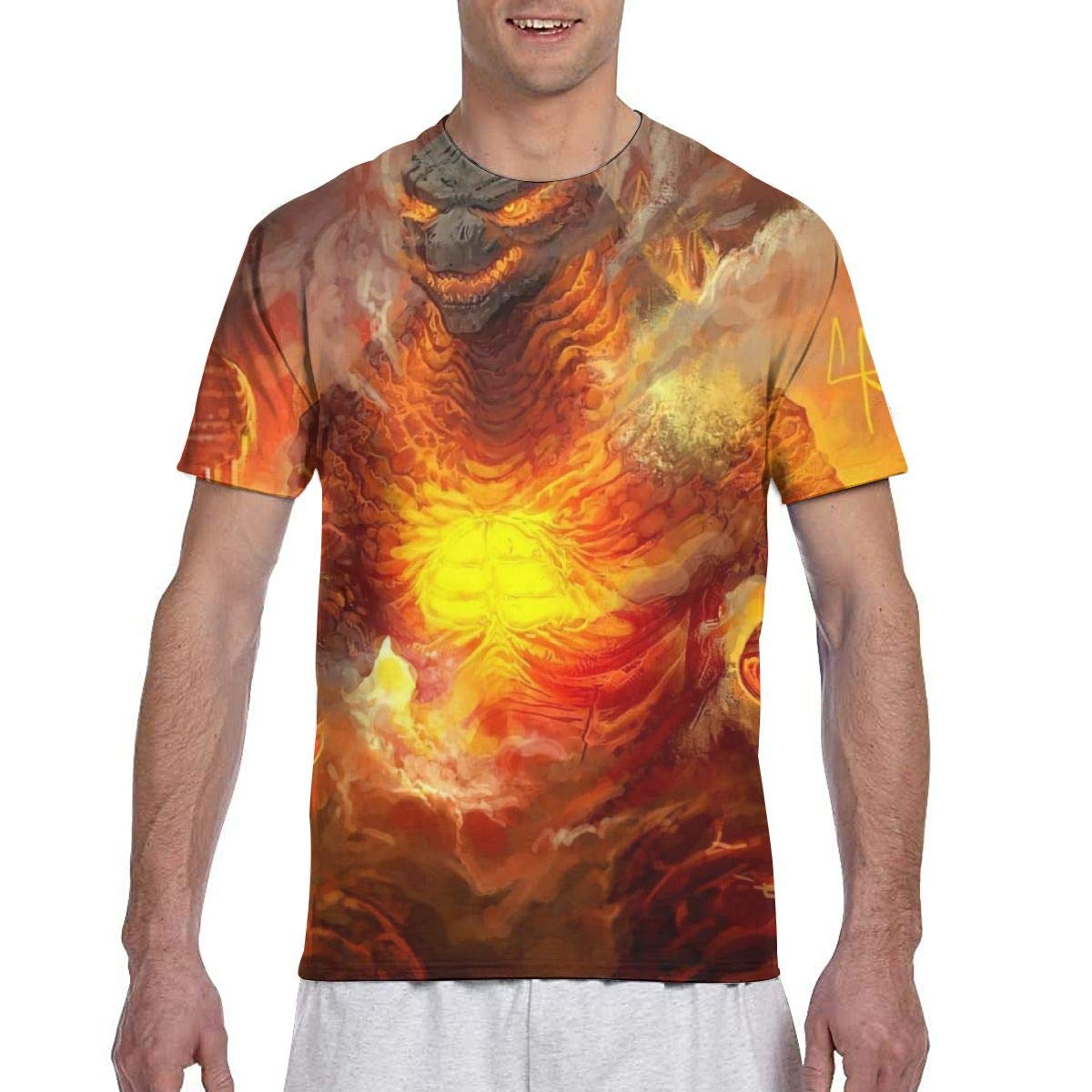Teen Mens 3D All-Over Printing Vintage Summer Short Sleeve T-Shirts Tops
