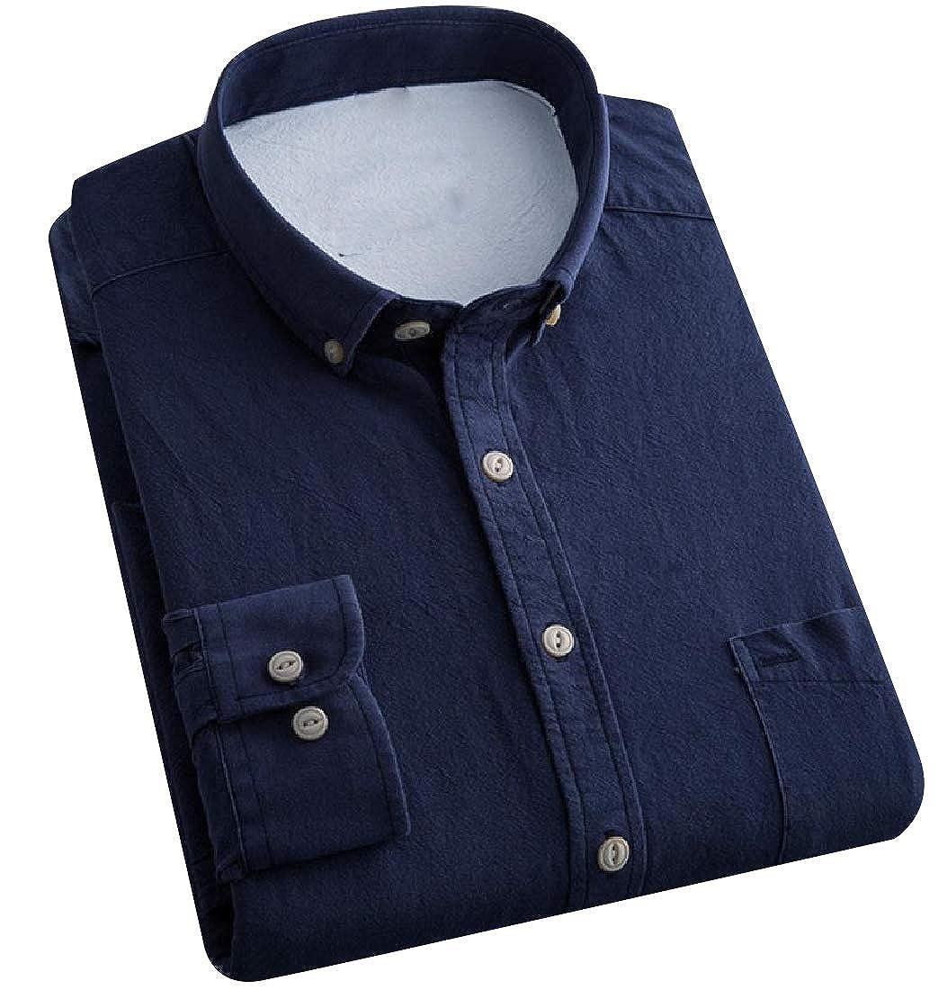 SportsX Mens Easy Care Regular Fit Corduroy Solid Color Dress Shirt
