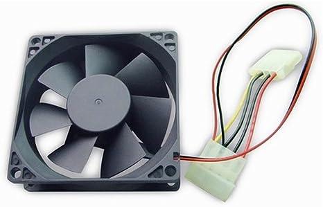 Gembird FANCASE-4 - Ventilador de PC (Carcasa del Ordenador, Ventilador, 8 cm, Gris, RoHS, CE, ISO 9001, 80 mm): Amazon.es: Informática