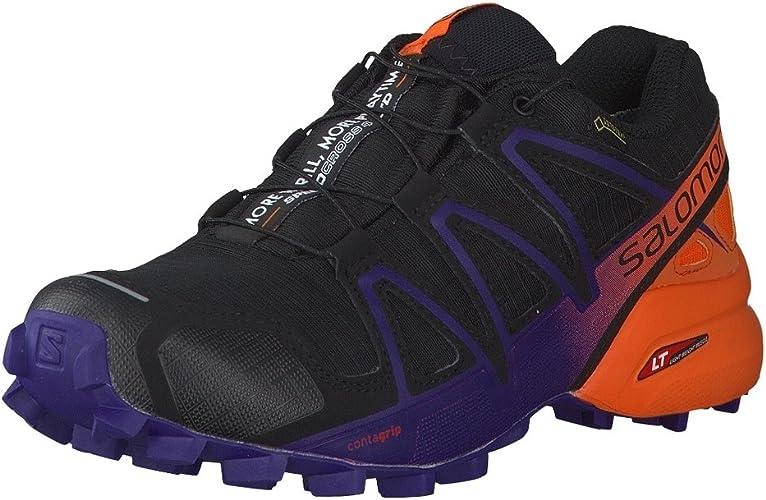 Salomon Speedcross 4 GTX LTD W, Zapatillas de Trail Running para Mujer, Negro (Black/Nasturtium/Parachute Purple 000), 45 1/3 EU: Amazon.es: Zapatos y complementos