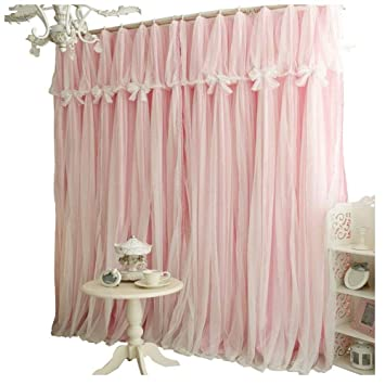 Queen\'s House Girls Bedroom Curtains Panels Grommet Top (Set of 2)-52\'\'×84\'\'