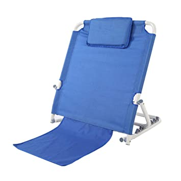 Astounding Bed Backrest Portable Folding Adjustable Sit Up Back Rest Stainless Steel Tubes And Breathable Fabric Disability Backrest Bed Support For Neck Head Squirreltailoven Fun Painted Chair Ideas Images Squirreltailovenorg