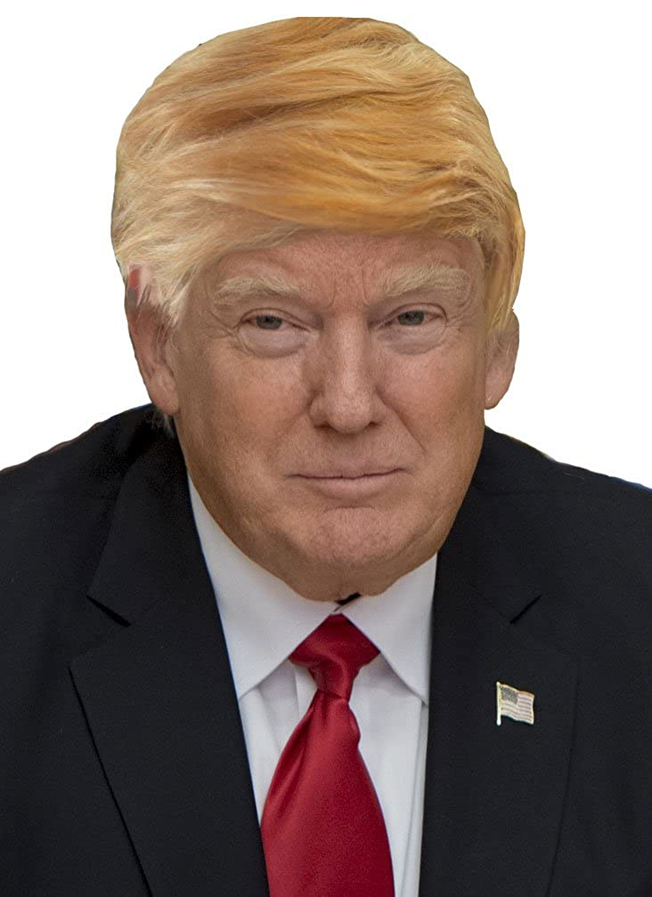 Funny Donald Trump Wig for Adults Kids Trumps Hair Halloween Costume Party Wigs