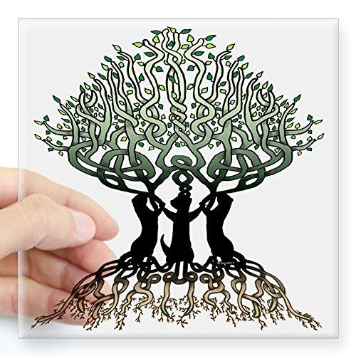 CafePress Ferret Tree of Life 2 Square Sticker 3