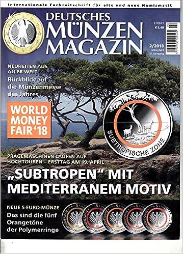 Deutsches Münzen Magazin 2 2018 Neue 5 Euro Münzen Zeitschrift