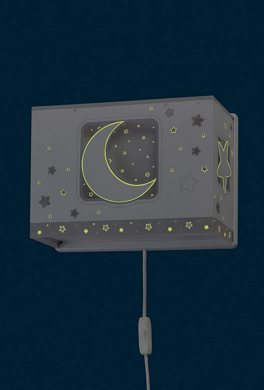 60 W Kunststoff Dalber wandlampe Moon Light Grau
