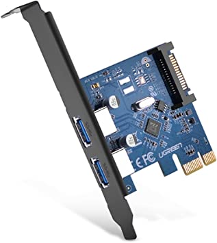 Amazon.com: Ugreen PCI-E a USB 3.0 2 puertos PCI Express ...