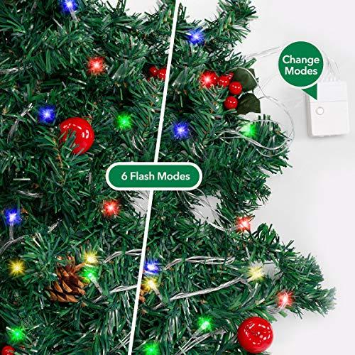 Ncknciz Christmas Garlands 9 Feet 100 LED Prelit Garland with Lights Plug in Christmas Greenery Garlands Pine Garland…