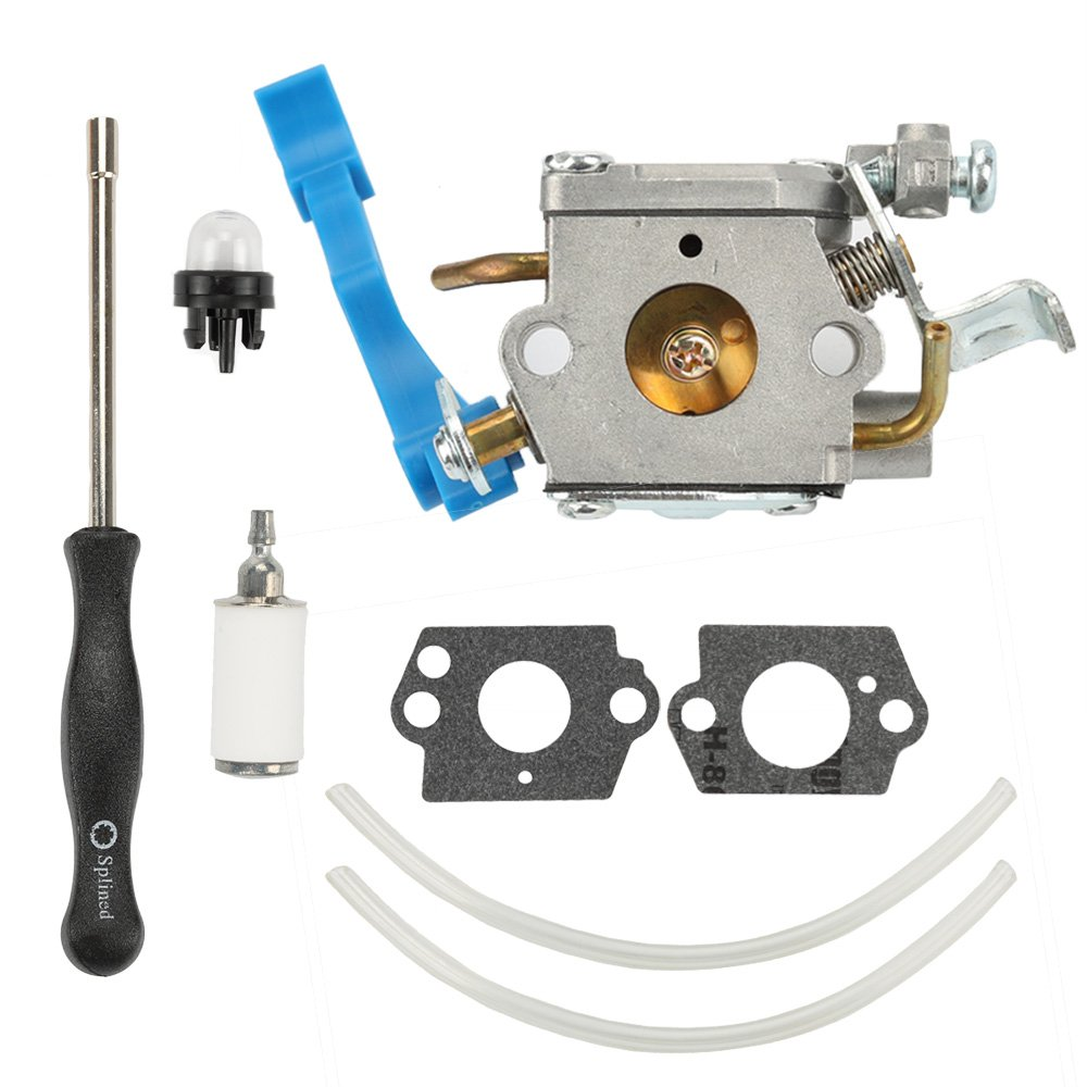 Hilom C1Q-W37 Carburetor with Fuel Filter Adjusting Tool for Husqvarna 125B 125BX 125BVX Leaf Blower Trimmer Replace 545081811 545 08 18-11