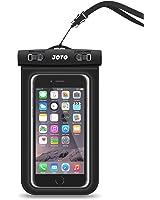 Étui universel imperméable à l'eau, sac à dos étanche pour téléphone portable JOTO pour Apple iPhone 6S 6,6S Plus, SE 5S 5 7, Samsung Galaxy S7 S6, note 5 4, HTC LG Sony Motorola Motorola jusqu'à 6,0 pouces (noir)