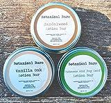 Men's Lotion Bar Set – 3 Lotion Bars 2oz Each – Sandalwood Lotion, Vanilla Oak Lotion, and Tobacco and Bay Leaf Lotion