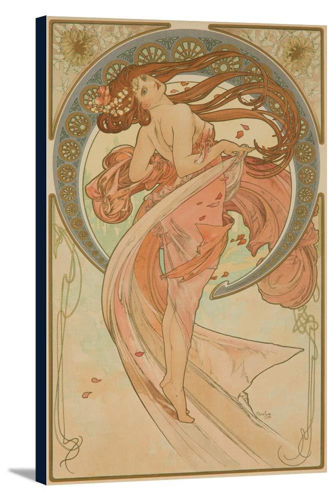 The Arts – ダンスヴィンテージポスター(アーティスト: Mucha、Alphonse )フランスC。1898 22 5/8 x 36 Gallery Canvas LANT-3P-SC-63643-24x36 22 5/8 x 36 Gallery Canvas  B0184B3BTS
