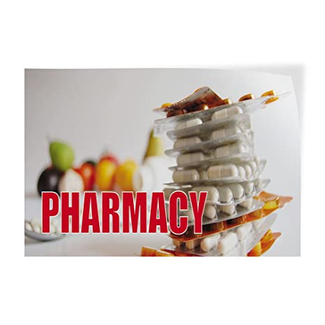 Set of 5 54inx36in Decal Sticker Multiple Sizes Pharmacy Coming Soon #1 Business Pharmacy Coming Soon Outdoor Store Sign White