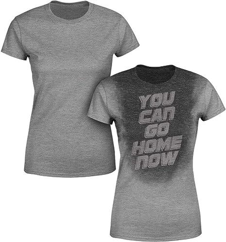 Camisa para mujer activada por el sudor | Camiseta para pérdida de peso | puedes ir a casa ahora, Large, Athletic Heather: Amazon.es: Deportes y aire libre