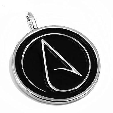 Amazon Atheist Logo Black And Silver Pendant 35cm Jewelry