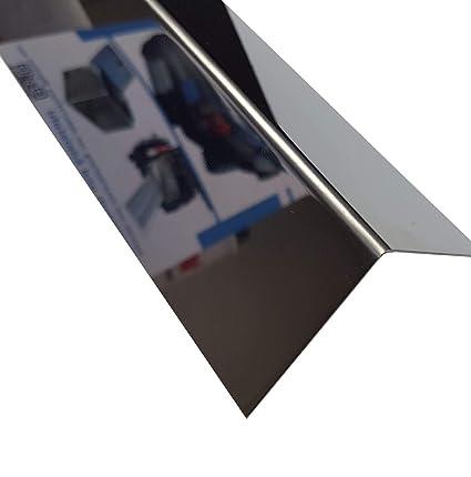 1 x ángulo de acero inoxidable VA 100 x 2000 mm Efecto ...