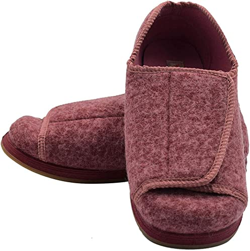 W/&Lesvago Womens Extra Wide Width Diabetic Slippers Arthritis Edema Closed Toed Shoes
