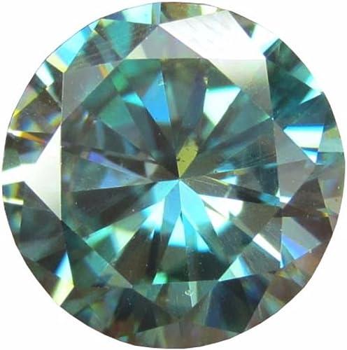 Amazon Com Gemone Diamonds Real 1 00 Ct 6 50 Mm Loose Moissanite Greenish Blue Color Round Brilliant Cut Jewelry