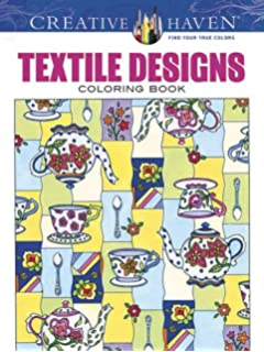 Creative Haven Textile Designs Coloring Book Books