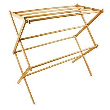 Wäscheständer Holz relaxdays handtuchhalter bambus faltbar hbt 73 x 74 x 36 cm