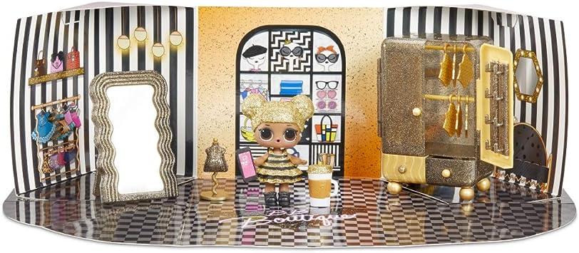 LOL sorpresa spazi mobili salone di bellezza PLAYSET CON BAMBOLA DI DIVA