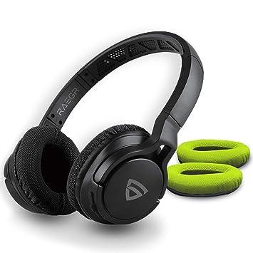 Raegr Air Beats 500 Wireless Headphones Bluetooth 5 0 3 5mm Aux In Connectivity Sporty Wireless Headphones 10h Playtime Ipx 4 Bluetooth Headphones With Mic Wireless Headphones Black Green Rg10067 Amazon In Electronics