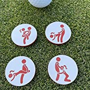 Golf Ball Markers Set of 4, Adult Humor Personalised Creative Golf Ball Handmade Markers Accessories, Funny Go