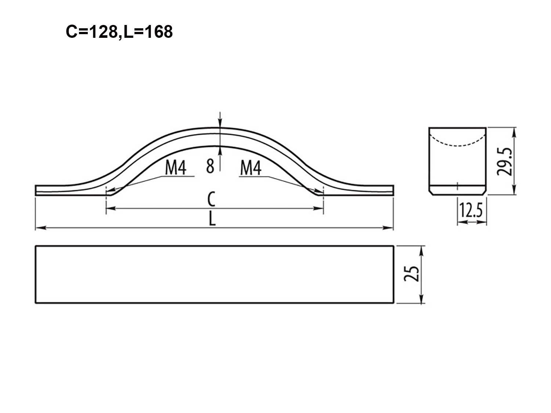 10 X Mprofi MT/® Muebles Tirador para armario de cocina Tirador caj/ón Aluminio 128 mm
