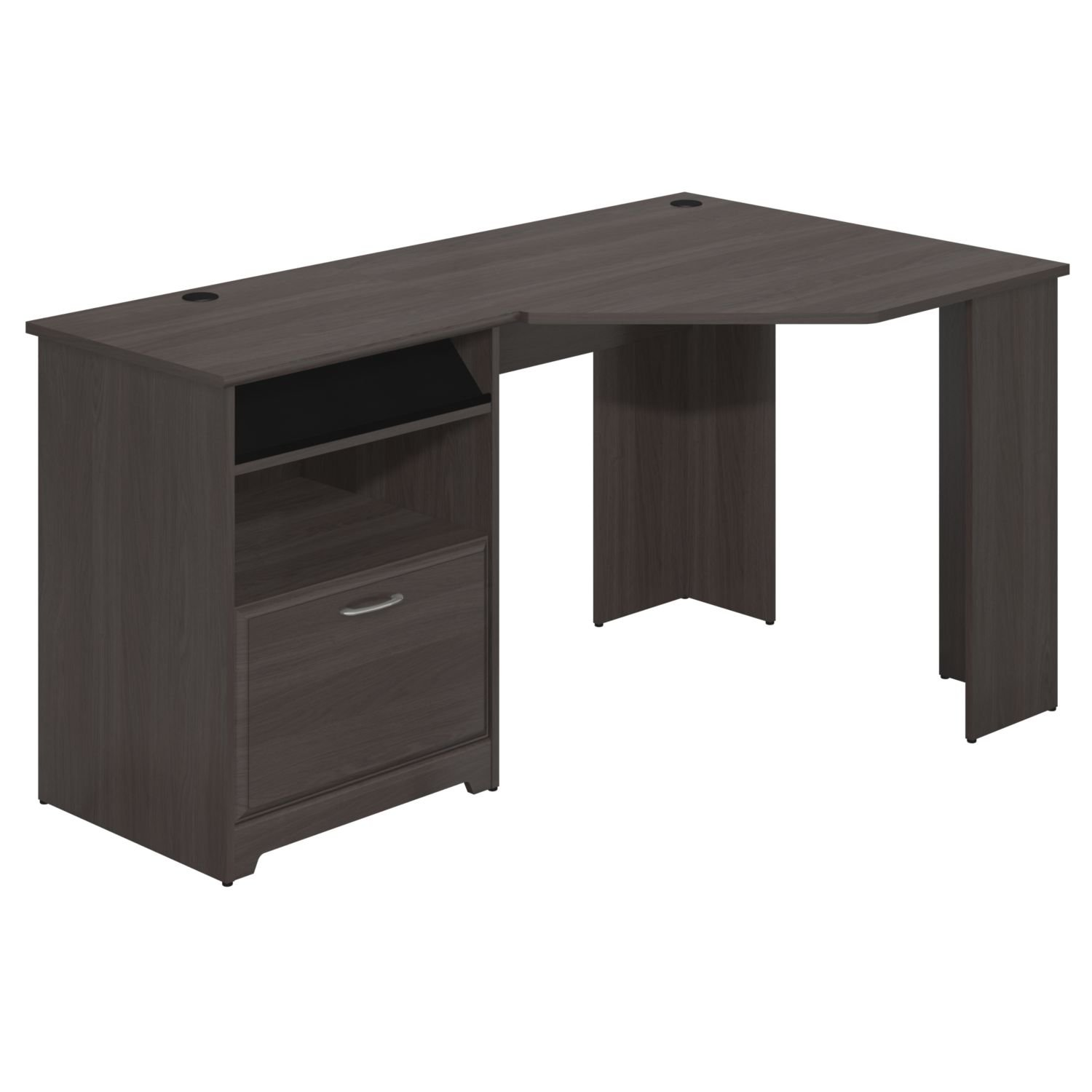 amazoncom bush furniture cabot collection corner desk in heather gray kitchen dining bush home office furniture