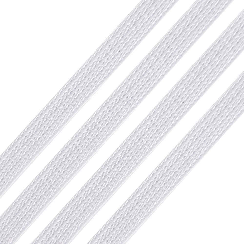 SearchI 3//5//7//9//12mm Cordon Elastique Plat Bandes /Élastiques Corde Elastique Bobine Elastique Couture Extensibles Ruban pour DIY Bricolage Couture Fabrication