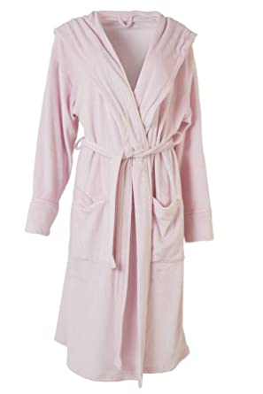 914b4f3ff3e0 Ex Marks & Spencer Womens Ladies Pale Pink Shimmersoft Long Velour ...