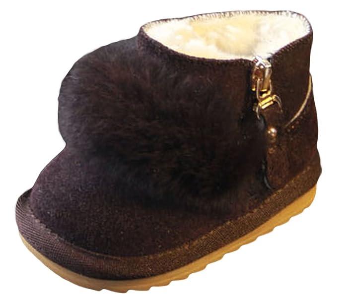 La Vogue Botte Neige Antidérapant Snow-Boot Fourrure Enfant Bébé Fille  Chaussure Chaude: Amazon.fr: Chaussures et Sacs