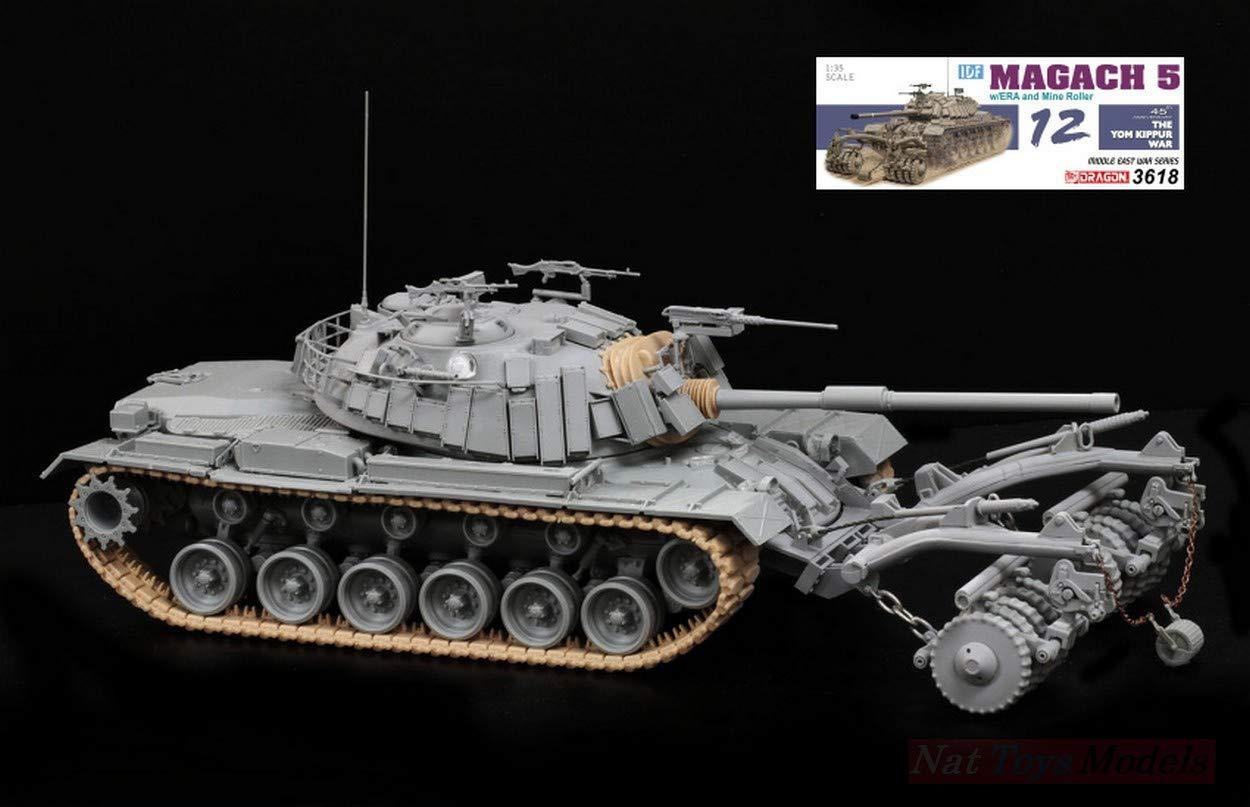 NEW Dragon D3618 MAGACH 5 W/ERA and Mine Roller Kit 1:35 MODELLINO Model