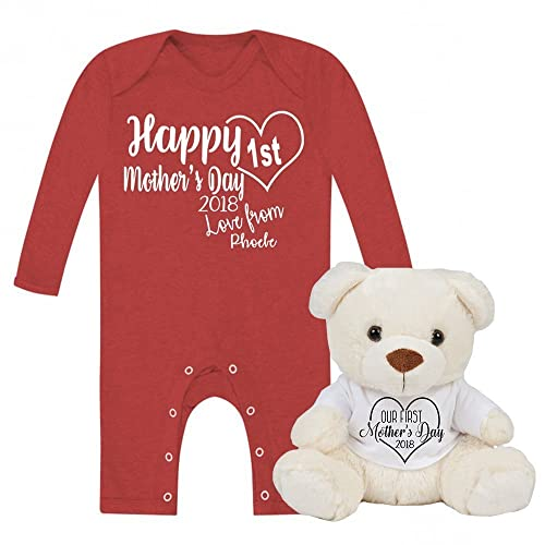 Personalised happy 1st mothers day love from babygrow and teddy set personalised happy 1st mothers day love from babygrow and teddy set baby gifts newborn gifts 2018 negle Images